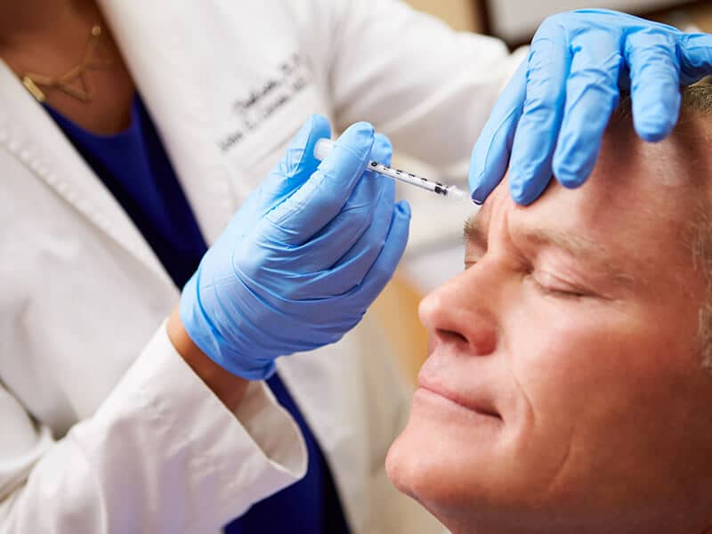 A toxina botulínica como tratamento de rugas para homens